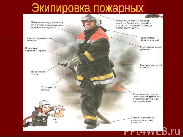 Экипировка пожарных