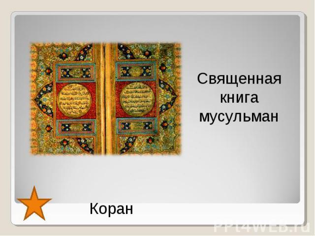 Священная книга мусульман Коран