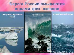 Берега России омываются водами трех океанов