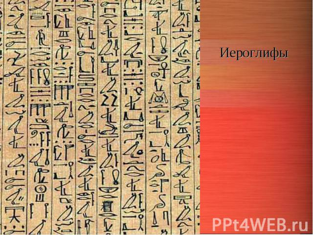 Иероглифы