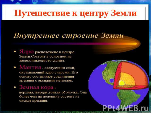 Путешествие к центру Земли