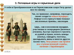3. Потешные игры и серьезные делаУ себя в Преображенском и на Переяславском озер