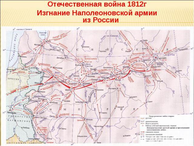 Отечественная война 1812г Изгнание Наполеоновской армии из России