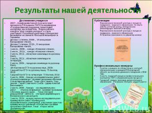 Результаты нашей деятельностиДостижения учащихся 2007г., Никифорова Ксения получ