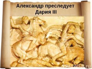 Александр преследует Дария III