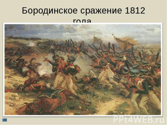 Бородинское сражение 1812 года.
