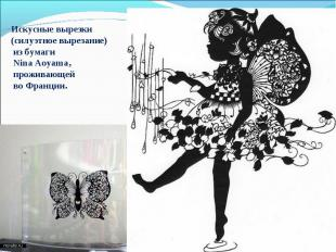 Искусные вырезки (силуэтное вырезание) из бумаги Nina Aoyama, проживающей во Фра