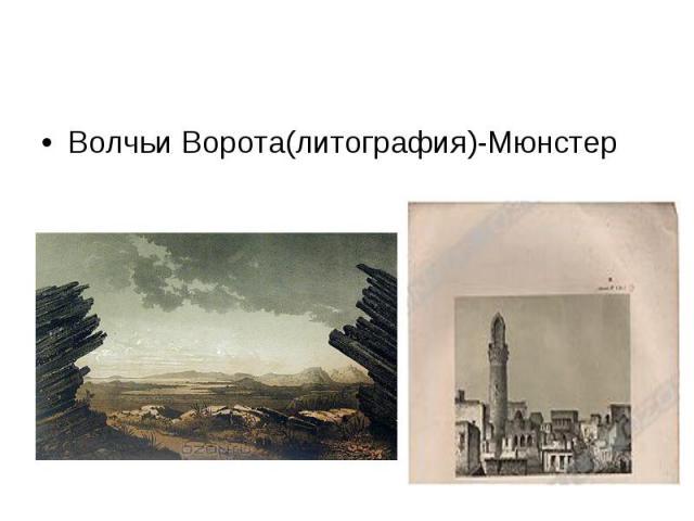 Волчьи Ворота(литография)-Мюнстер