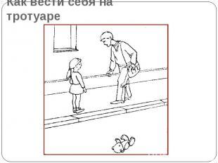 Как вести себя на тротуаре