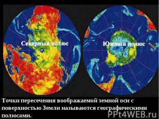 Точки пересечения воображаемой земной оси с поверхностью Земли называются геогра