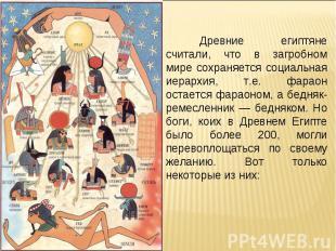 Древние египтяне считали, что в загробном мире сохраняется социальная иерархия,