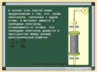 В основе этих опытов лежит предположение о том, что, кроме электронов, связанных