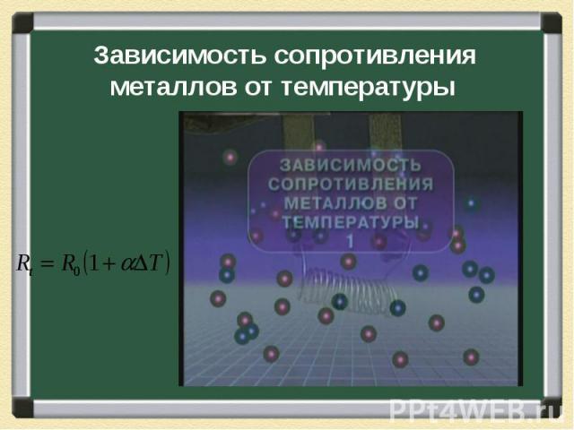 Зависимость сопротивления металлов от температуры