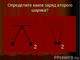 Определите каков заряд второго шарика?