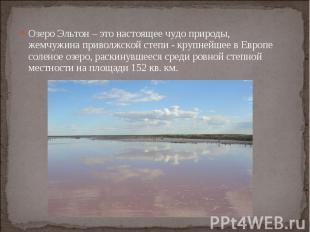 Озеро Эльтон – это настоящее чудо природы, жемчужина приволжской степи - крупней
