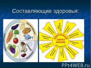 Составляющие здоровья:
