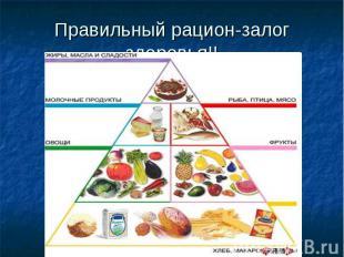 Правильный рацион-залог здоровья!!