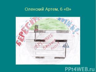 Оленский Артем, 6 «В»