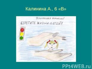 Калинина А., 6 «В»