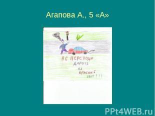 Агапова А., 5 «А»