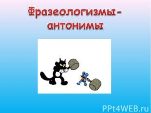 Фразеологизмы-антонимы
