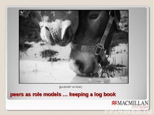 peers as role models … keeping a log book