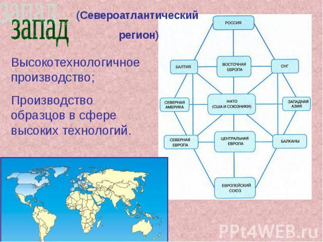 (Североатлантический регион) Высокотехнологичное производство; Производство образцов в сфере высоких технологий.