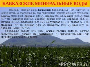 Кавказские Минеральные Воды Посреди степной зоны Кавказских Минеральных Вод выся