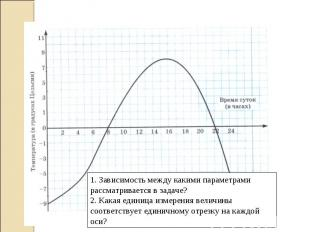 1. Зависимость между какими параметрами рассматривается в задаче? 2. Какая едини