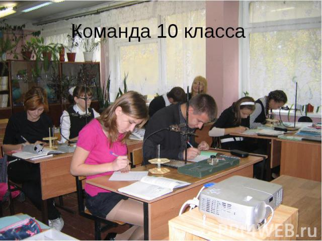 Команда 10 класса