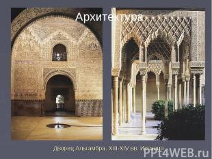 Архитектура Дворец Альгамбра. XIII-XIV вв. Испания