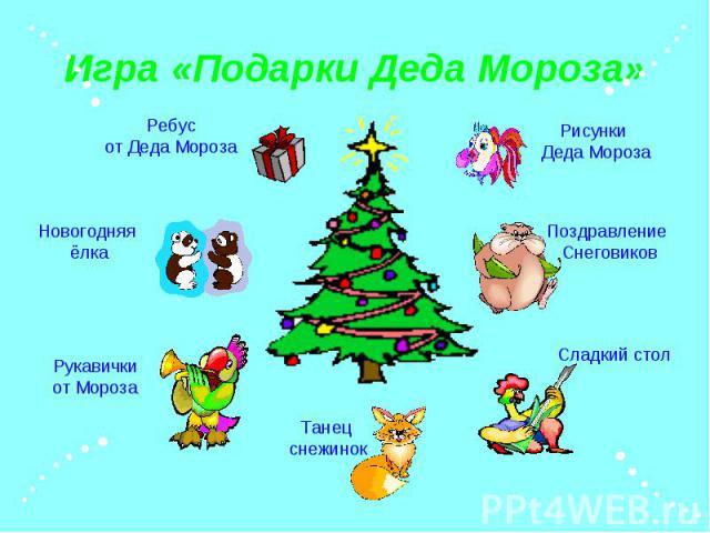 Игра «Подарки Деда Мороза»
