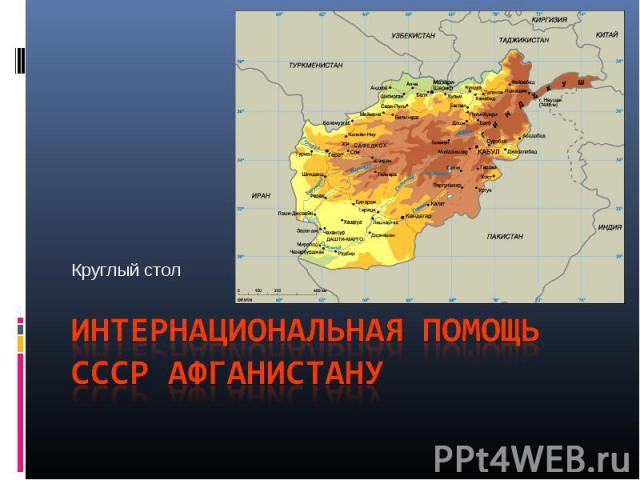 Интернациональная помощь СССР Афганистану