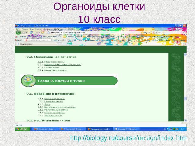 Органоиды клетки 10 класс