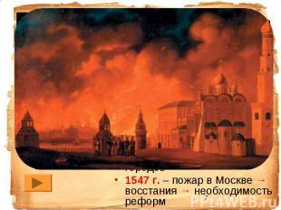 1533 г. – вступление на престол. Правит мать Ивана IV – Елена Глинская (умерла в