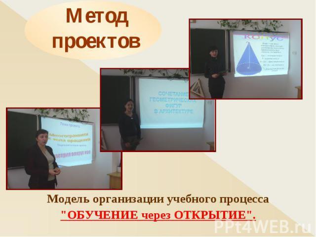 Метод проектов Модель организации учебного процесса