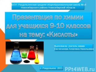 МБОУ- Раздольненская средняя общеобразовательная школа №19 Новосибирского района