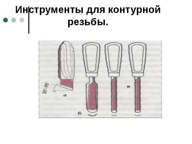 Инструменты для контурной резьбы.