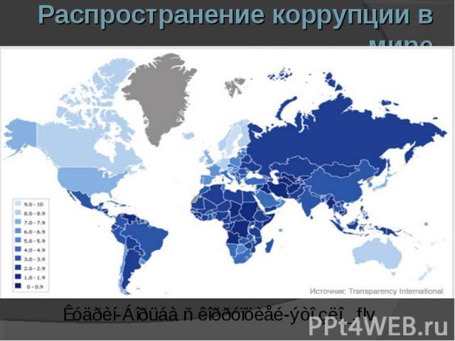 Распространение коррупции в мире