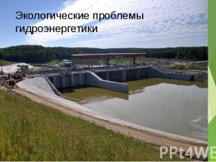 Экологические проблемы гидроэнергетики