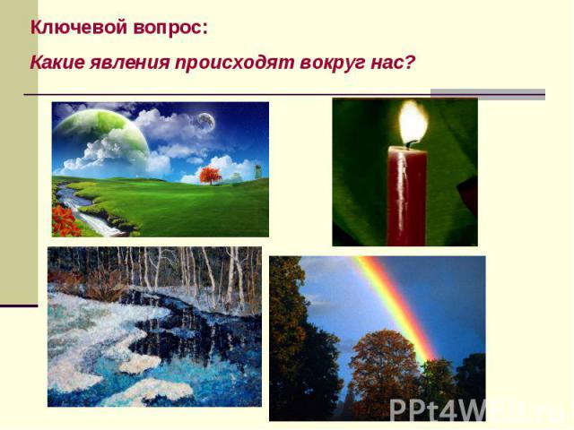 Ключевой вопрос: Какие явления происходят вокруг нас?