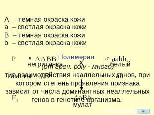 (от греч. poly - много) тип взаимодействия неаллельных генов, при котором степен