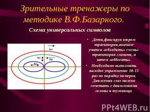 Зрительные тренажеры по методике В.Ф.Базарного. Дети,фиксируя взором траектории,