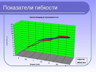 Показатели гибкости