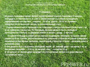 Правила соревнованийОБОРУДОВАНИЕ МЕСТА ДЛЯ СОРЕВНОВАНИЙПлощадка:Игровая площадка