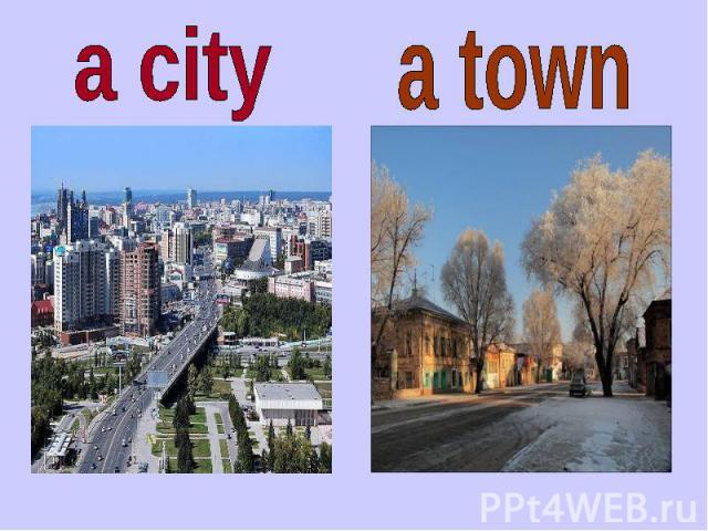 a city a town