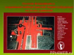 Остатки вооружения и снаряжения войнов Красной Армии собранные на полях сражений
