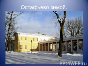 Остафьево зимой.