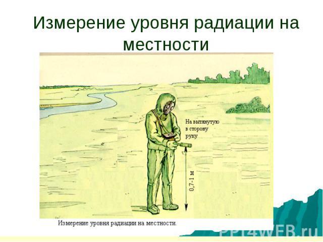 Измерение уровня радиации на местности