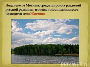Недалеко от Москвы, среди широких раздолий русской равнины, в очень живописном м
